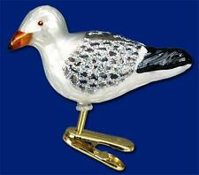 SEA GULL OLD WORLD CHRISTMAS BLOWN GLASS BEACH NAUTICAL BIRD ORNAMENT NWT 18037