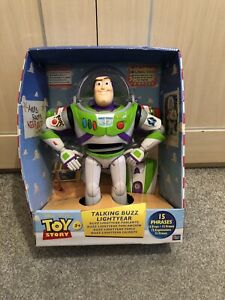 RARE Buzz Lightyear Moving Talking Toy Story Action Figure Thinkway Disney Store