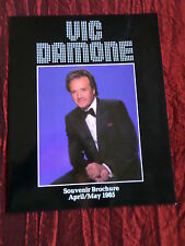 VIC DAMONE - SOUVENIR BROCHURE -APRIL / MAY 1985