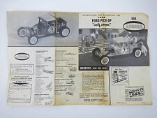 1962 Aurora Model 1/32 WOLF WAGON 1928 FORD PICK-UP TRUCK MODEL INSTRUCTIONS