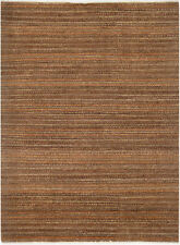 5X7 Hand-Knotted Gabbeh Carpet Traditional Brown Fine Wool Area Rug D36006