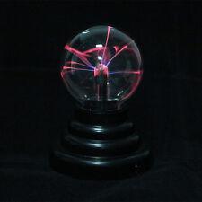 Magic USB Glass Plasma Ball Sphere Lightning Light Lamp Party Black Base