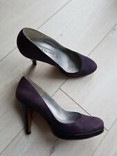RUSSELL & BROMLEY LADIES  BEAUTIFUL PURPLE PLATFORM LEATHER SHOES UK 5/ 38 FAB!