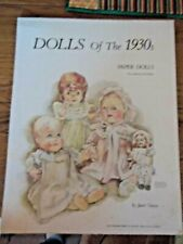 Vintage 1976 Janet Nason Dolls of the 1930s Paper Dolls Large Paper Booklet