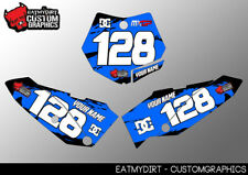 KTM 65 2009 - 2015 GRAPHICS  CUSTOM PRINTED BACKGROUNDS NUMBER BOARDS MX DECALS
