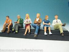 Bachmann Spur-0-Figuren 2759 - 6 Sitzende Reisende