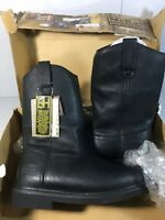 Mcrae Industrial Work Boots Mens Size 10 M Black Leather Rubber Outsole