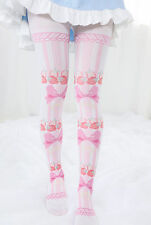 Kawaii Strawberry Bowknot Printing Socks Japan Lolita Tights Pantyhose Stockings