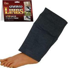 FAKE SURPRISING LEG / FOOT WITH PANTS  joke halloween props gag prank new trick