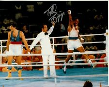 Tyrell Biggs hand-signed 1984 Olympic Boxing Gold Medal 8x10 authentic w/ Coa