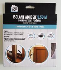 1 ROULEAU JOINT ADHESIF BLANC ISOLANT ISOLATION FENETRE PORTE 5,5 M POSE FACILE