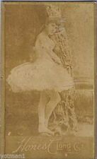 Actresses, Ballerina Leaning on Tree, Honest Long Cut, N150, 1880's, my #51