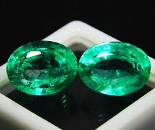 Natural Colombian Emerald Loose Gemstone 8 to 10 Cts Certified Pair Free Ship