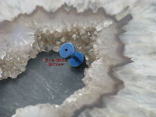 Fake Piercing Plug TUNNEL BLAU Ohrstecker Ohrringe Ohrschmuck Piercing 1,6mm