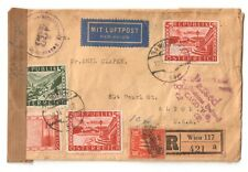 1946 AUSTRIA Registered Mail Cover w/ # 479, 480, 481 x2 & US Postage Due CV$15