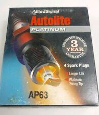 Autolite Platinum Spark Plug - MPN AP63 - Set of 4 Spark Plugs Old Stock (D1)