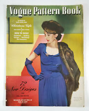 Vogue Pattern Book Fall Winter 1942 1943 Vintage Fashion Dresses