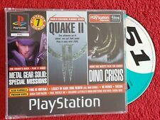 PLAYSTATION MAGAZINE DISC 51 VOLUME 1  DEMO DINO CRISIS/MGS/QUAKE  PS1 PS2 PAL
