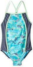 Speedo Girls Diamond Geo Slice One Piece Swimwear Size 14