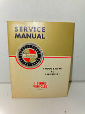 1965 Kaiser Jeep J-series V-8 6-232 Service Manual Supplement to SM-1019-R1