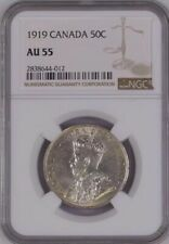 1919 Canada 50 Cents NGC AU55 high value