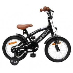 Amigo BMX Fun - Kinderfahrrad für Jungen - 14 zoll - ab 3-4 Jahre - Schwarz