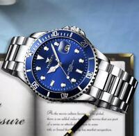 Men's Watch Stainless Steel Quartz Relojes De Hombre Luminous Classic Watches