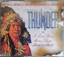 THUNDER I Love You More Than Rock N Roll 2 Track CD Single