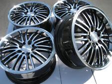 16x7 Black Wheels Fits Fiesta Focus Civic Miata Integra Mirage Spark Cobalt Rims
