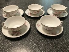 Five Sets of Harmony House Janet Cups and Saucers