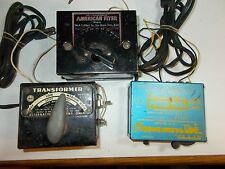 THREE MODEL TRAIN TRANSFORMERS AMERICAN FLYER # 2 MARX # 1209 AHM # 70002 USED