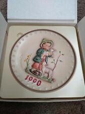 Vintage 1990 Goebel Hummel #286 20th Annual Plate Series 7.5� Shepherd Boy