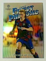 2019-20 Topps Finest Phenoms Frenkie De Jong UEFA Champions League Barcelona