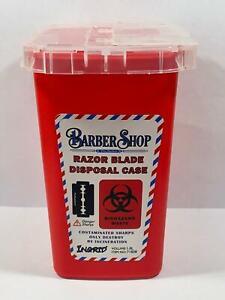 RAZOR BLADE NEEDLE SHARPS DISPOSABLE CONTAINER CASE BOX for BARBER TATTOO SALON