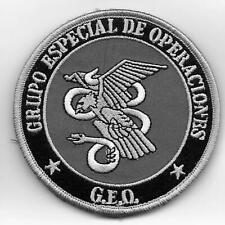 parche POLICIA GEOS GEO spain swat police patch