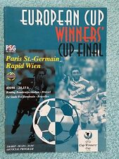 1996 - CUP WINNERS CUP FINAL PROGRAMME - PARIS ST GERMAIN v RAPID VIENNA