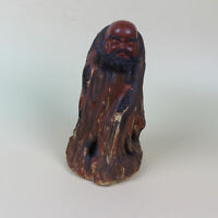 Chinese Antique Hand Painted Old man pattern Porcelain Statue   HP304