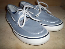 Sperry Topsider Blue Suede Topsiders Mens 7.5M Boat Shoes for Elvis or UNC Fan