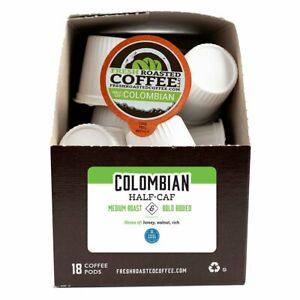 Colombian SWP Half Caf | 72 K-Cups, 2.0 Compatible | Fresh Roasted Coffee