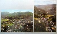 2x Postkarte BADENWEILER Schwarzwald Luftbild-AK Fliegeraufnahme v. Flugzeug
