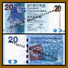 Hong Kong 20 Dollars, 2010 P-297a SCB Unc