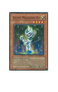 YuGiOh Card - Silent Magician LV4 NTR-EN001 Super Rare