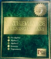 Mathematics Learning Library Home Schooling 5 CD-ROM Pro One Software Box Set