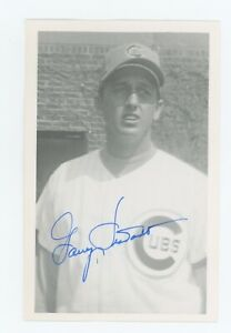 Autographed Brace Postcard of Cubs Garry Jestadt
