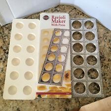 Norpro 1043 Ravioli Maker With Press Pasta Dough Mold Tool