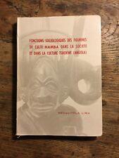 Functions Sociologiques Des Figurines De Culte Hamba.Tshokwe Mesquitela Lima