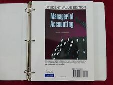 Managerial Accounting Textbook with 3-ring Binder by Oliver and Horngren