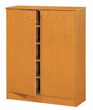 MDF Golden Beech 5 Shelves Organizer Shoe Storage Cabinet Rack Home Furniture