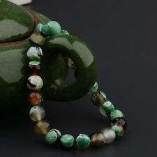 8mm Multi Colour Beaded Cuff Charm Bangle Fashion Natural Stone Bracelet New