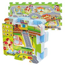 Trefl 8 Piece Baby Kids Infant Soft Foam Floor Mat City Fun Jigsaw Puzzle NEW